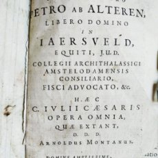 Libros antiguos: ARNOLDUS MONTANUS IULII CAESARI OPERA OMNIA SHOONHOVEN1661 ( JULIO CERSAR) GRABADO MAPA. Lote 205753245