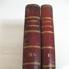 Livres anciens: EL CONDE DE LAVERNIE - AGUSTO MAQUET - HABANA 1853 - OBRA COMPLETA. Lote 205793423
