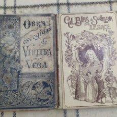 Libros antiguos: 1895. LOTE MONTANER Y SIMÓN. GIL BLAS DE SANTILLANA Y VENTURA DE LA VEGA.. Lote 205801095