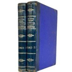 Libros antiguos: SEVILLA, 1882 - JUAN VALERA: LAS ILUSIONES DEL DOCTOR FAUSTINO - TEMPRANA ED., COMPLETA EN 2 TOMOS. Lote 205827386
