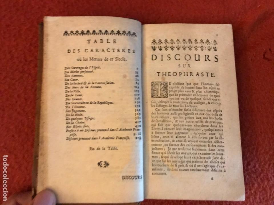 Libros antiguos: Les Caracteres de Theophraste traduits du Grec, avec les caracteres ou les moeurs de ce siecle. 1707 - Foto 4 - 205851442