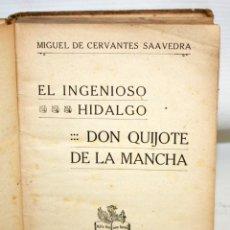 Libros antiguos: EL INGENIOSO HIDALGO DON QUIJOTE DE LA MANCHA. CERVANTES. EDITORIAL RAMON SOPENA (1936) 5ª EDICIÓN. Lote 205880726