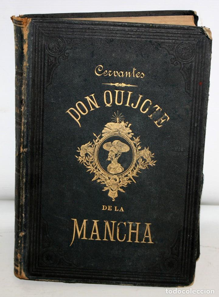 Libros antiguos: DON QUIJOTE DE LA MANCHA. CERVANTES. LAMINAS DE D. RAMON PUIGGARÍ. 4ª EDICIÓN (1881). SALVADOR RIBAS - Foto 3 - 205881241