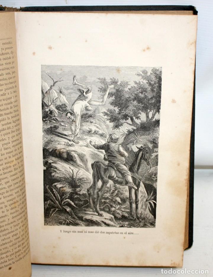 Libros antiguos: DON QUIJOTE DE LA MANCHA. CERVANTES. LAMINAS DE D. RAMON PUIGGARÍ. 4ª EDICIÓN (1881). SALVADOR RIBAS - Foto 8 - 205881241