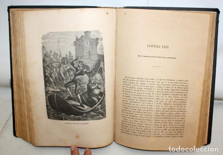 Libros antiguos: DON QUIJOTE DE LA MANCHA. CERVANTES. LAMINAS DE D. RAMON PUIGGARÍ. 4ª EDICIÓN (1881). SALVADOR RIBAS - Foto 9 - 205881241