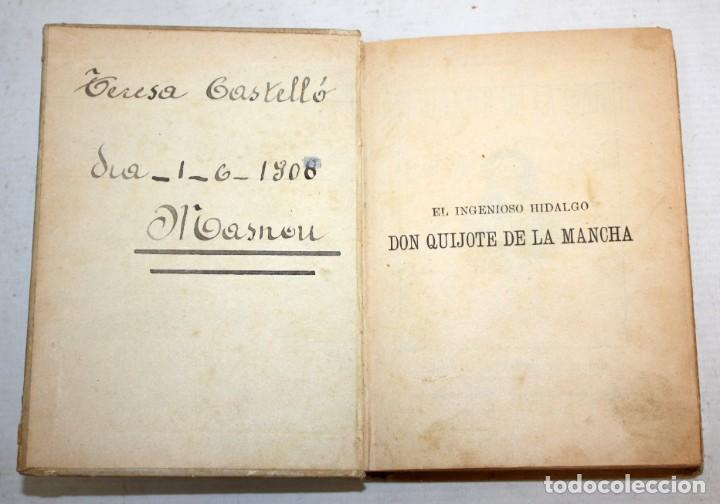 Libros antiguos: DON QUIJOTE DE LA MANCHA. CERVANTES. SATURNINO CALLEJA (EDITOR). 1905 - Foto 4 - 205885603