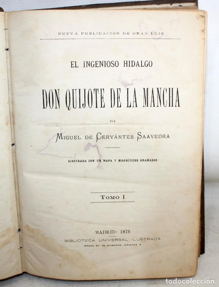 EL INGENIOSO HIDALGO DON QUIJOTE DE LA MANCHA. CERVANTES. BIBLIOTECA UNIVERSAL ILUSTRADA. 2 TOMOS (Libros antiguos (hasta 1936), raros y curiosos - Literatura - Narrativa - Clásicos)