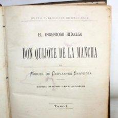 Libros antiguos: EL INGENIOSO HIDALGO DON QUIJOTE DE LA MANCHA. CERVANTES. BIBLIOTECA UNIVERSAL ILUSTRADA. 2 TOMOS. Lote 206119721