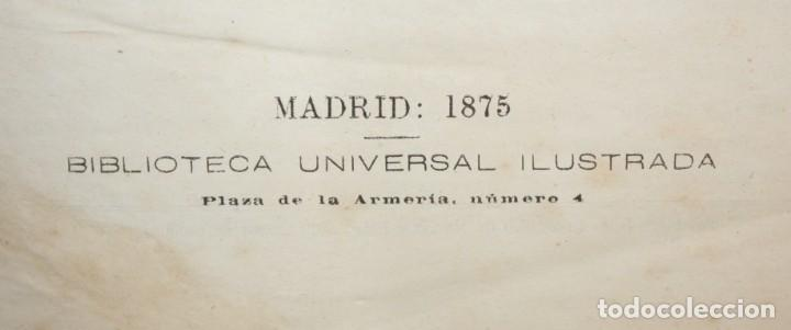 Libros antiguos: EL INGENIOSO HIDALGO DON QUIJOTE DE LA MANCHA. CERVANTES. BIBLIOTECA UNIVERSAL ILUSTRADA. 2 TOMOS - Foto 2 - 206119721