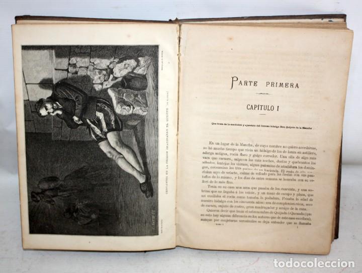 Libros antiguos: EL INGENIOSO HIDALGO DON QUIJOTE DE LA MANCHA. CERVANTES. BIBLIOTECA UNIVERSAL ILUSTRADA. 2 TOMOS - Foto 8 - 206119721