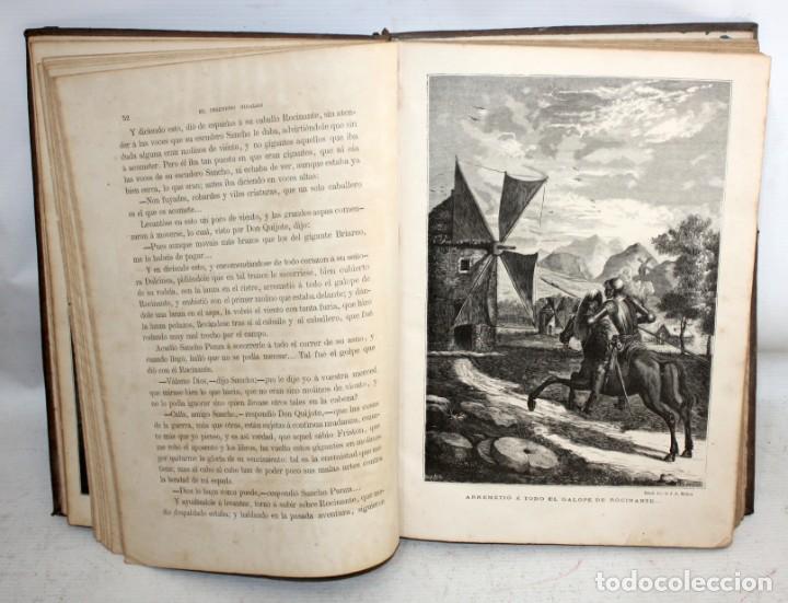 Libros antiguos: EL INGENIOSO HIDALGO DON QUIJOTE DE LA MANCHA. CERVANTES. BIBLIOTECA UNIVERSAL ILUSTRADA. 2 TOMOS - Foto 9 - 206119721