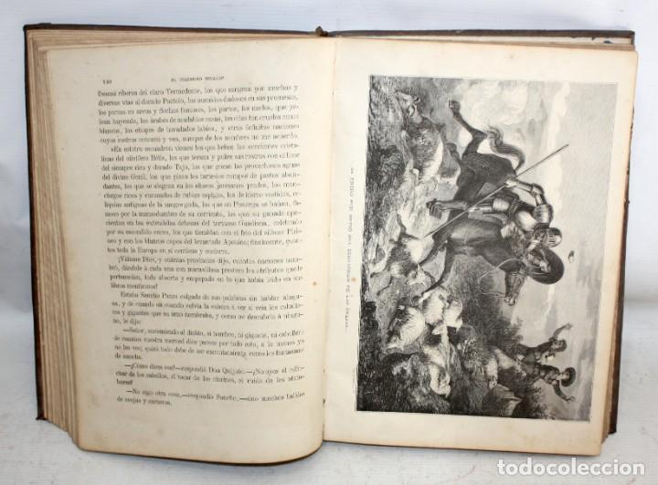Libros antiguos: EL INGENIOSO HIDALGO DON QUIJOTE DE LA MANCHA. CERVANTES. BIBLIOTECA UNIVERSAL ILUSTRADA. 2 TOMOS - Foto 10 - 206119721