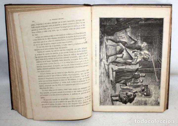 Libros antiguos: EL INGENIOSO HIDALGO DON QUIJOTE DE LA MANCHA. CERVANTES. BIBLIOTECA UNIVERSAL ILUSTRADA. 2 TOMOS - Foto 11 - 206119721