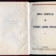 Libros antiguos: JARDIEL PONCELA, ENRIQUE: OBRAS COMPLETAS II DIEZ MINUTOS ANTES DE LA MEDIANOCHE; A LA LUZ DEL VENT. Lote 206253715