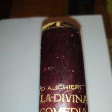 Libros antiguos: LA DIVINA COMEDIA DE DANTE ALIGHIERI AÑO 1921 LAMINAS DE GUSTAVO DORE CASA EDITORIAL MAUCCI ORIGINAL. Lote 206584733