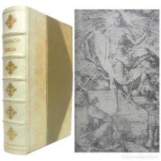 Libros antiguos: 1958 - SAGRADA BIBLIA - ANTIGUO Y NUEVO TESTAMENTO - ILUSTRACIONES Y MAPAS - PERGAMINO DE LUJO. Lote 206855270