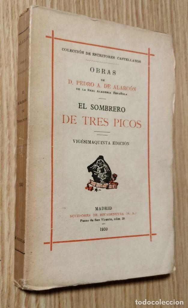 Libros antiguos: EL SOMBRERO DE TRES PICOS ** PEDRO ANTONIO DE ALARCÓN - Foto 2 - 206953360