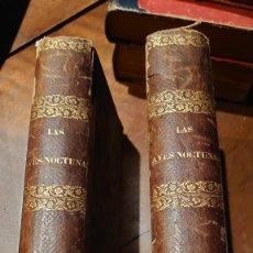 Libros antiguos: LIBRO NOVELA LAS AVES NOCTURNAS HISTORIA DE DOS HUERFANOS. JUAN DE LA PUERTA VIZCAINO. AÑO 1867.. Lote 207141407