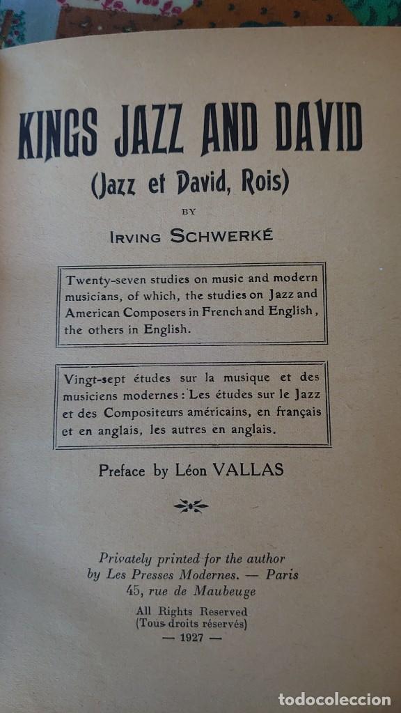 1927 KING JAZZ AND DAVID BY IRVING SCHWERKE PRPM 57 (Libros antiguos (hasta 1936), raros y curiosos - Literatura - Narrativa - Clásicos)