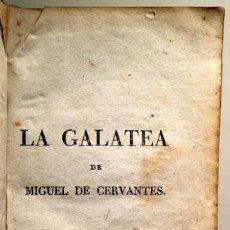 Livres anciens: CERVANTES, MIGUEL DE - LA GALATEA - C. 1850. Lote 207491362