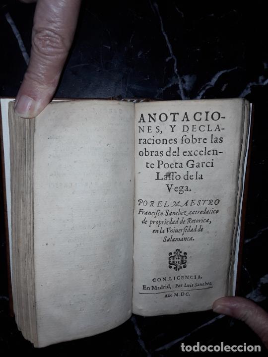 Libros antiguos: Garcilaso de la Vega. Obras. 1600.Buen clásico. - Foto 2 - 207625318
