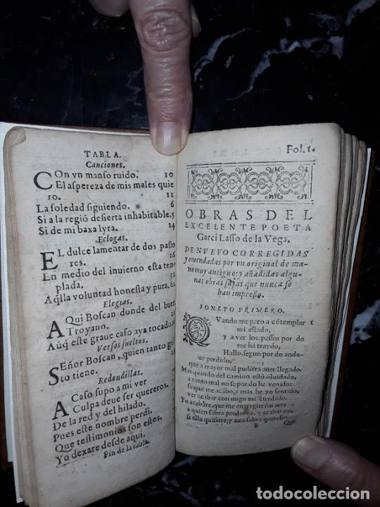 Libros antiguos: Garcilaso de la Vega. Obras. 1600.Buen clásico. - Foto 13 - 207625318