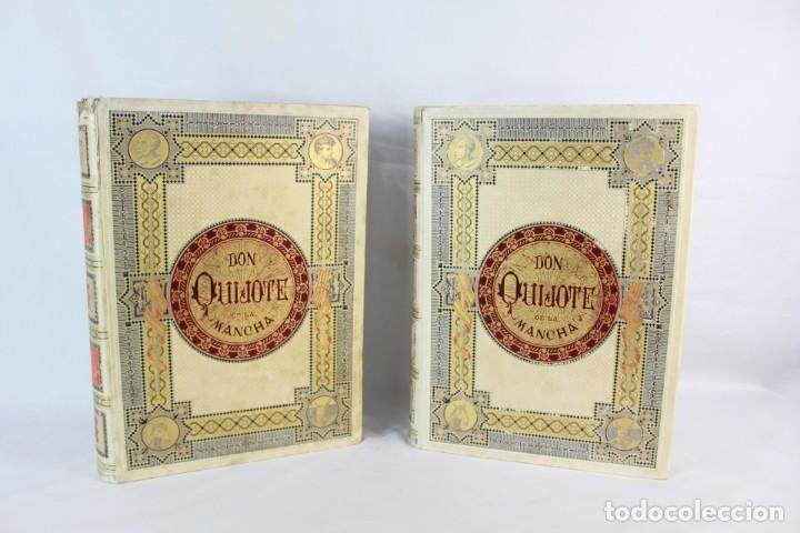 DON QUIJOTE DE LA MANCHA, MIGUEL DE CERVANTES. DOS TOMOS - MONTANER Y SIMON EDITORES 1880 Y 1883 (Libros antiguos (hasta 1936), raros y curiosos - Literatura - Narrativa - Clásicos)