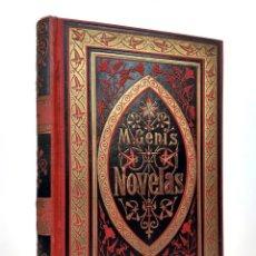 Livros antigos: 1882. MARTÍ GENÍS I AGUILAR: NOVELAS - ESTAMPA DE LA RENAIXENSA - TELA MODERNISTA - LIBRO EN CATALÁN. Lote 208749335