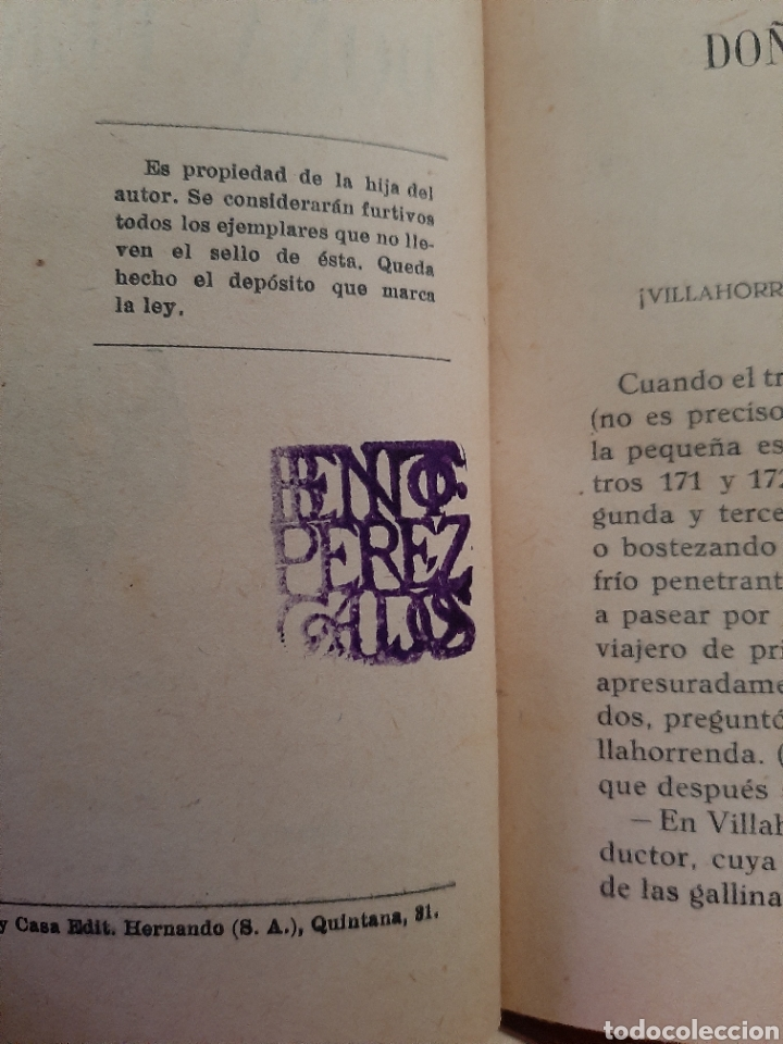 Libros antiguos: Doña Perfecta. - Foto 4 - 209159593