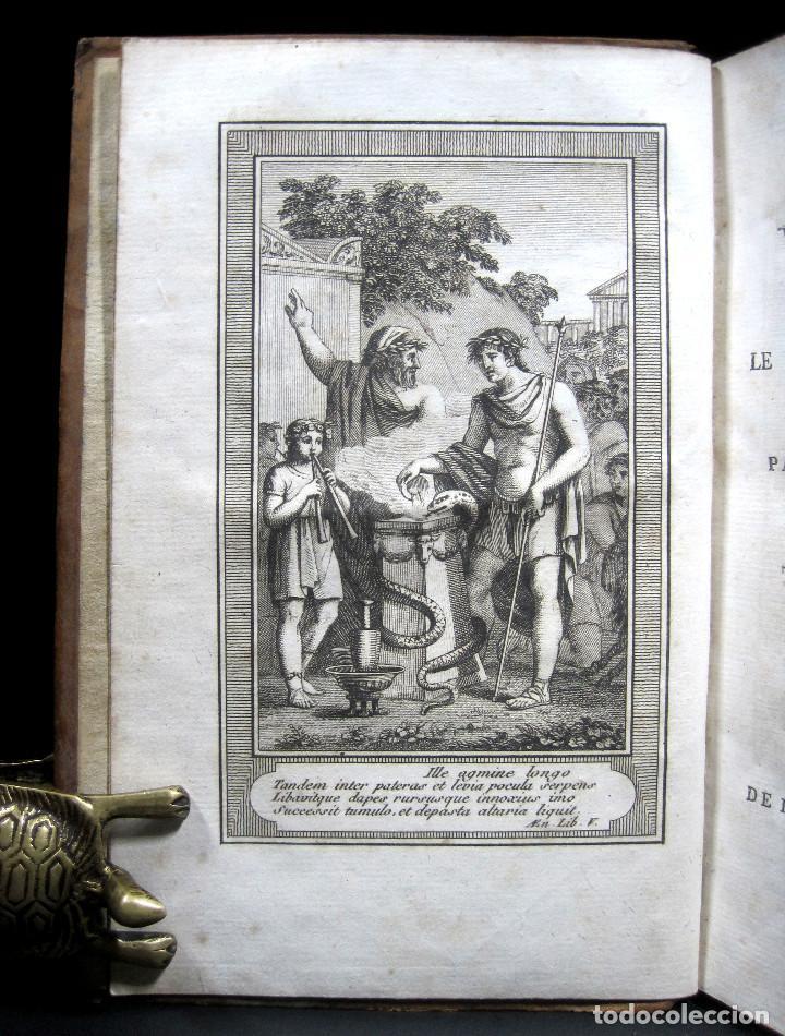 Libros antiguos: Año 1802 Virgilio La Eneida Antigua Roma Grabados a plena página Vida de Clásicos grecolatinos - Foto 2 - 109318951