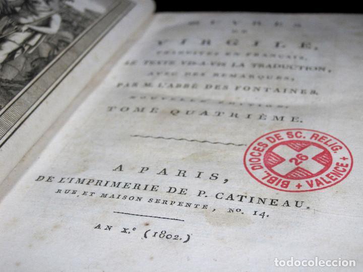Libros antiguos: Año 1802 Virgilio La Eneida Antigua Roma Grabados a plena página Vida de Clásicos grecolatinos - Foto 6 - 109318951