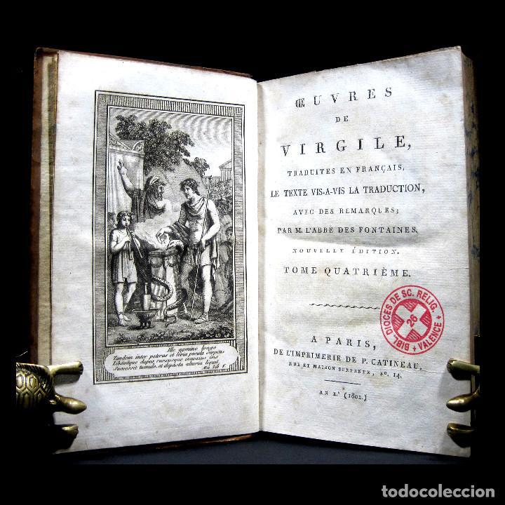 AÑO 1802 VIRGILIO LA ENEIDA ANTIGUA ROMA GRABADOS A PLENA PÁGINA VIDA DE CLÁSICOS GRECOLATINOS (Libros antiguos (hasta 1936), raros y curiosos - Literatura - Narrativa - Clásicos)