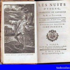 Libros antiguos: AÑO 1770: LAS NOCHES, DE YOUNG. SIGLO XVIII.. Lote 210599893