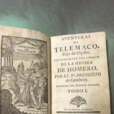 Libros antiguos: 1768-AVENTURAS DE TELEMACO. ARZOBISPO DE CAMBRAY, FENELÓN - BARCELONA TOMAS PIFERRER Y CARLOS SAPERA. Lote 210649947
