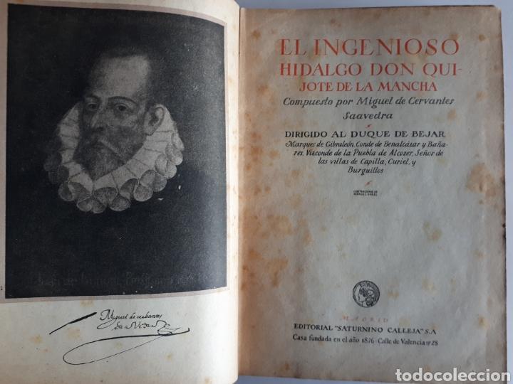 Libros antiguos: DON QUIJOTE DE LA MANCHA. ED. SATURNINO CALLEJA S.A. - Foto 8 - 211783832