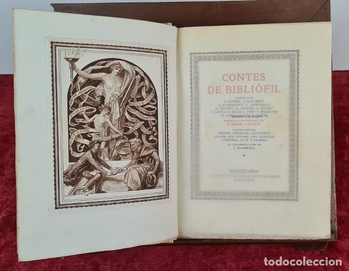 CONTES DE BIBLIOFIL. VARIOS AUTORES E ILUSTRADORES. EDIDCION NUMERADA. 1924. (Libros antiguos (hasta 1936), raros y curiosos - Literatura - Narrativa - Clásicos)