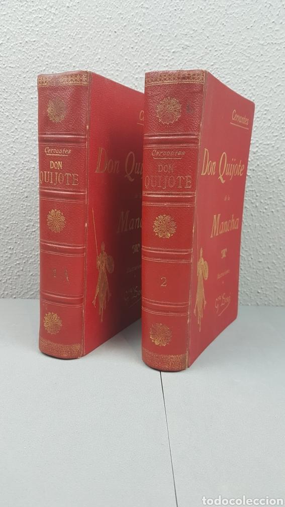 Libros antiguos: 2 Tomos de DON QUIJOTE DE LA MANCHA. DIBUJOS DE GUSTAVO DORÉ. ED. LUIS TASSO SERRA. BARCELONA. - Foto 2 - 212647612