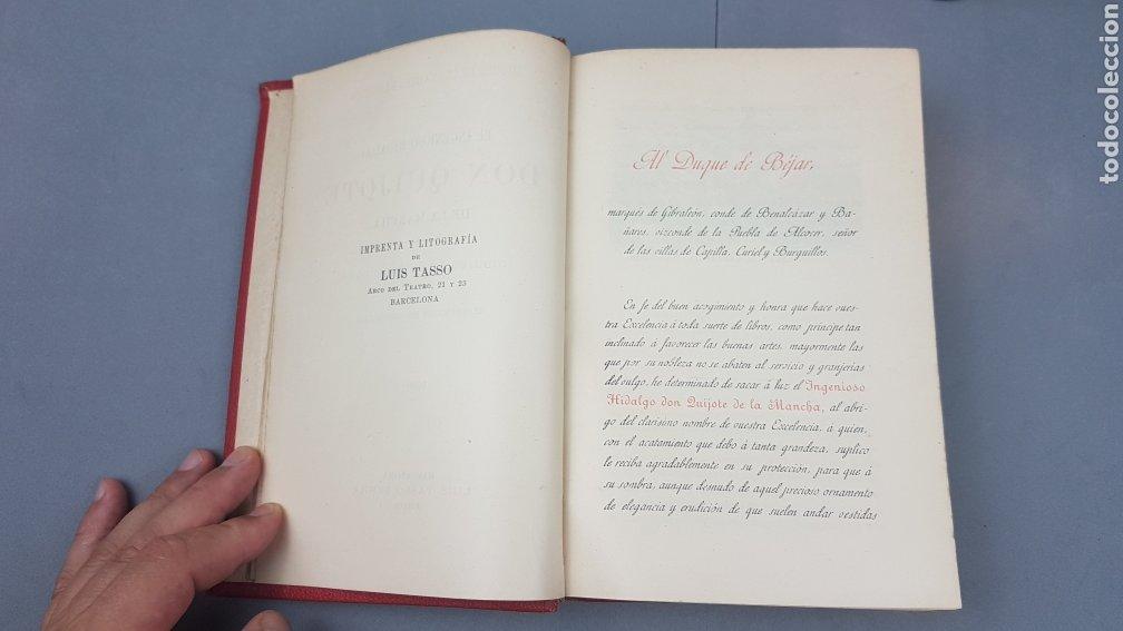 Libros antiguos: 2 Tomos de DON QUIJOTE DE LA MANCHA. DIBUJOS DE GUSTAVO DORÉ. ED. LUIS TASSO SERRA. BARCELONA. - Foto 5 - 212647612