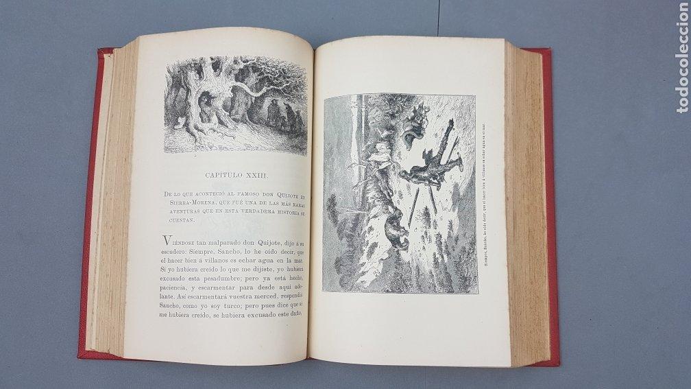 Libros antiguos: 2 Tomos de DON QUIJOTE DE LA MANCHA. DIBUJOS DE GUSTAVO DORÉ. ED. LUIS TASSO SERRA. BARCELONA. - Foto 8 - 212647612