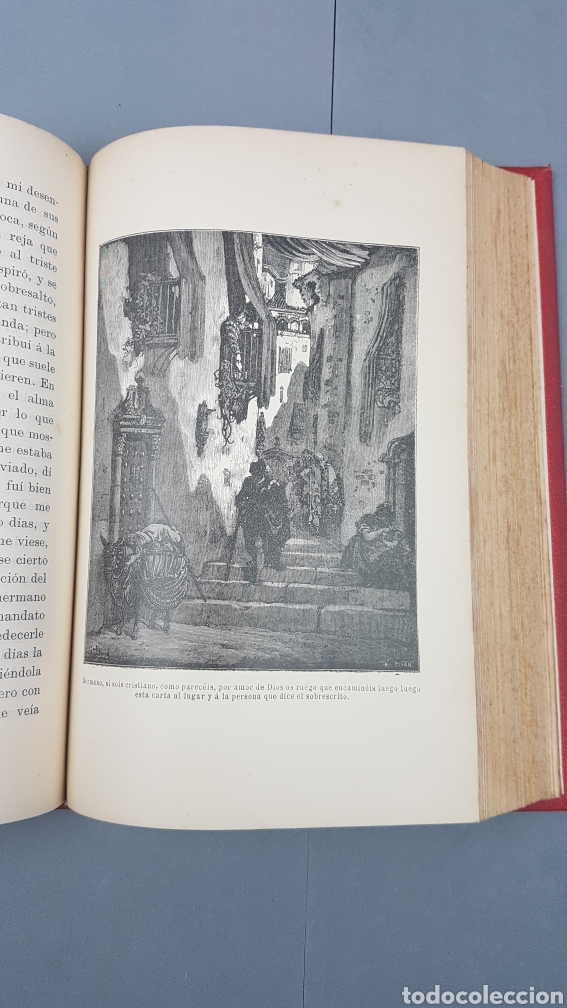 Libros antiguos: 2 Tomos de DON QUIJOTE DE LA MANCHA. DIBUJOS DE GUSTAVO DORÉ. ED. LUIS TASSO SERRA. BARCELONA. - Foto 9 - 212647612