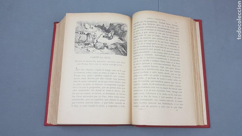 Libros antiguos: 2 Tomos de DON QUIJOTE DE LA MANCHA. DIBUJOS DE GUSTAVO DORÉ. ED. LUIS TASSO SERRA. BARCELONA. - Foto 11 - 212647612