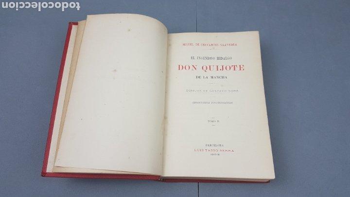 Libros antiguos: 2 Tomos de DON QUIJOTE DE LA MANCHA. DIBUJOS DE GUSTAVO DORÉ. ED. LUIS TASSO SERRA. BARCELONA. - Foto 13 - 212647612