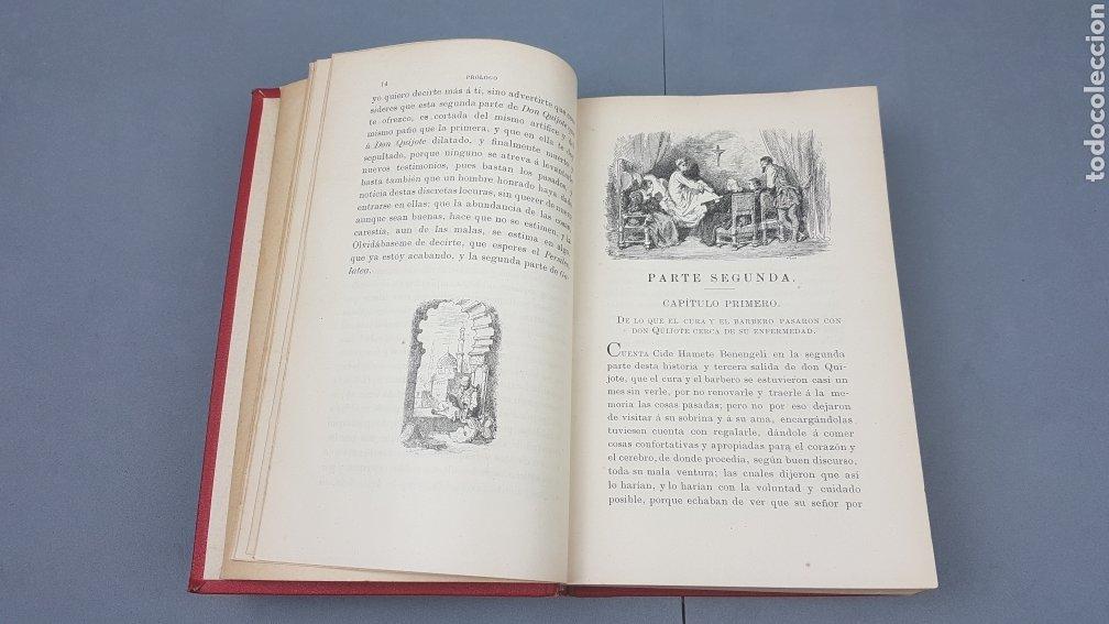 Libros antiguos: 2 Tomos de DON QUIJOTE DE LA MANCHA. DIBUJOS DE GUSTAVO DORÉ. ED. LUIS TASSO SERRA. BARCELONA. - Foto 15 - 212647612