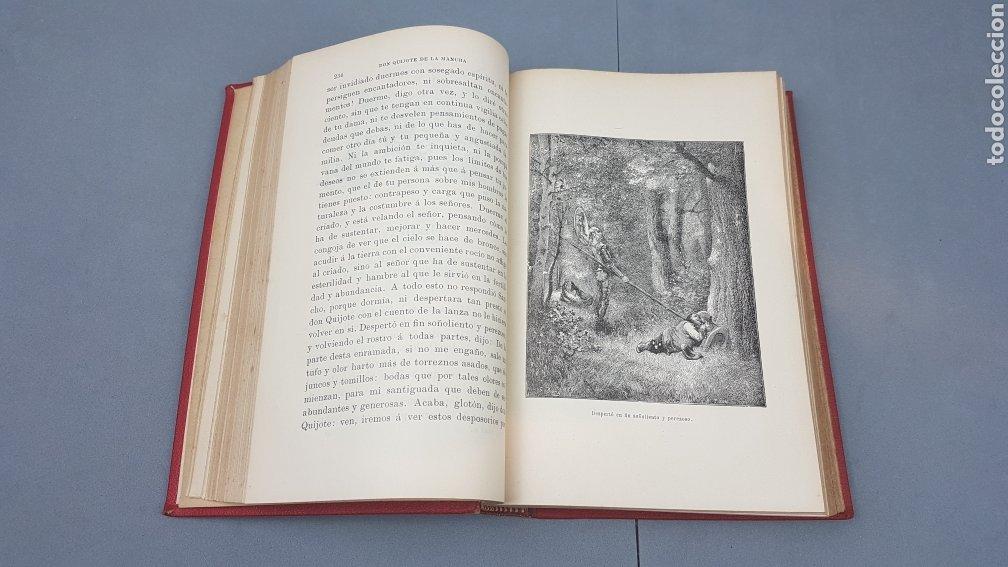 Libros antiguos: 2 Tomos de DON QUIJOTE DE LA MANCHA. DIBUJOS DE GUSTAVO DORÉ. ED. LUIS TASSO SERRA. BARCELONA. - Foto 16 - 212647612