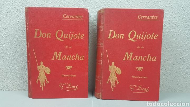 2 TOMOS DE DON QUIJOTE DE LA MANCHA. DIBUJOS DE GUSTAVO DORÉ. ED. LUIS TASSO SERRA. BARCELONA. (Libros antiguos (hasta 1936), raros y curiosos - Literatura - Narrativa - Clásicos)