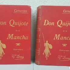 Libros antiguos: 2 TOMOS DE DON QUIJOTE DE LA MANCHA. DIBUJOS DE GUSTAVO DORÉ. ED. LUIS TASSO SERRA. BARCELONA.. Lote 212647612