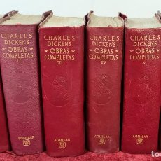 Libros antiguos: CHARLES DICKENS. OBRAS COMPLETAS. EDITORIAL AGUILAR. 6 TOMOS. AÑOS 60.. Lote 222722835
