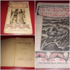 Libros antiguos: EL VIZCONDE DE BRAGELONE TOMOS I Y II ALEJANDRO DUMAS CASA EDITORIAL MAUCCI 1905. Lote 213400738