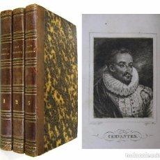Libros antiguos: 1837 - CERVANTES - DON QUIJOTE DE LA MANCHA - ILUSTRADO POR ACHILLE DEVERIA. Lote 213476155