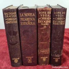Libros antiguos: COLECCION DE OBRAS COMPLETAS. 4 TITULOS. EDITORIAL AGUILAR. AÑOS 60.. Lote 213595783